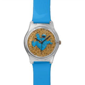Monstruo y galletas de la galleta del vintage relojes de mano