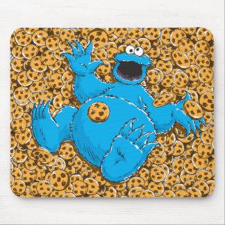 Monstruo y galletas de la galleta del vintage tapetes de ratón