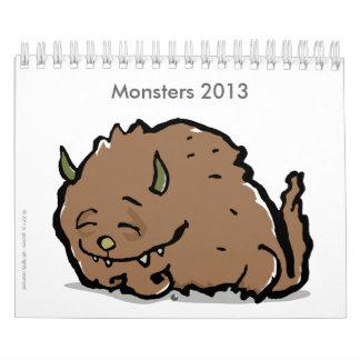 monstruos 2013 (personalizable) calendario de pared