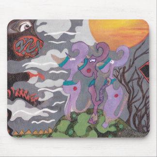 Monstruos abstractos tapete de raton