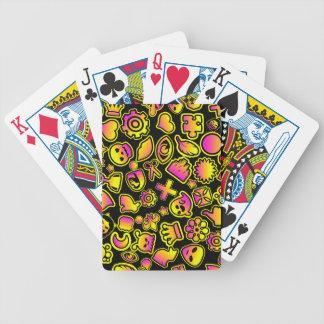 Monstruos amarillos y rosados de Emoji - Baraja Cartas De Poker