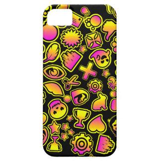 Monstruos amarillos y rosados de Emoji - iPhone 5 Carcasas