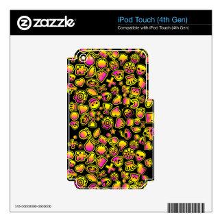 Monstruos amarillos y rosados de Emoji - iPod Touch 4G Skin