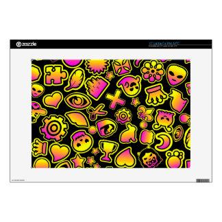Monstruos amarillos y rosados de Emoji - Skins Para 38,1cm Portátil