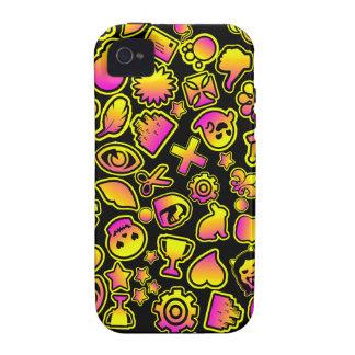 Monstruos amarillos y rosados de Emoji - Vibe iPhone 4 Carcasa