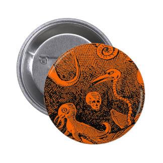 Monstruos asustadizos de la escena de Halloween Pin