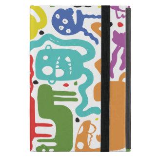 Monstruos coloridos iPad mini protectores