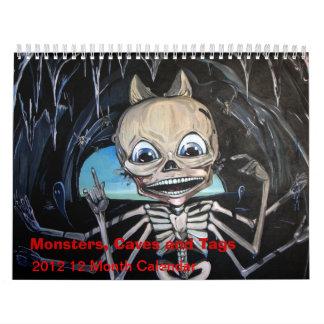 Monstruos, cuevas y etiquetas 2012 calendario de