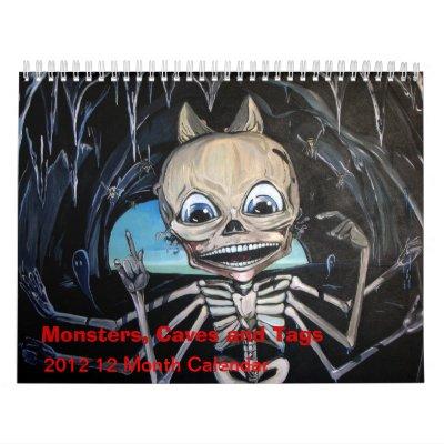 Monstruos, cuevas y etiquetas 2012 calendario de 1