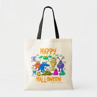 Monstruos de Halloween Bolsas Lienzo