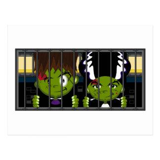 Monstruos de Halloween Frankensteins del dibujo Postales