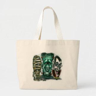 Monstruos de la película bolsa lienzo