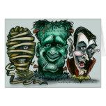 Monstruos de la película felicitacion