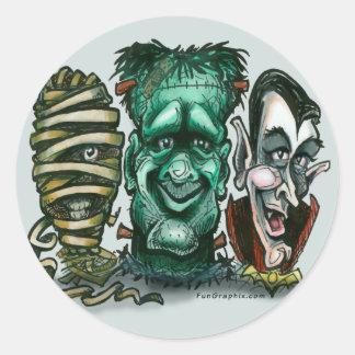 Monstruos de la película pegatina redonda