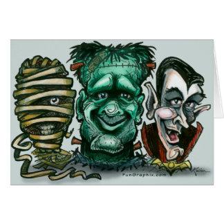 Monstruos de la película tarjeta de felicitación