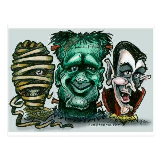 Monstruos de la película postal