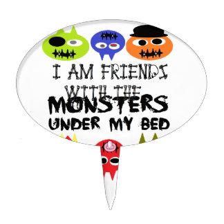 Monstruos debajo de la cama figuras para tartas