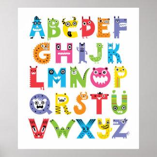 Monstruos del alfabeto póster