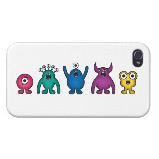 Monstruos del extranjero del arco iris iPhone 4 carcasa