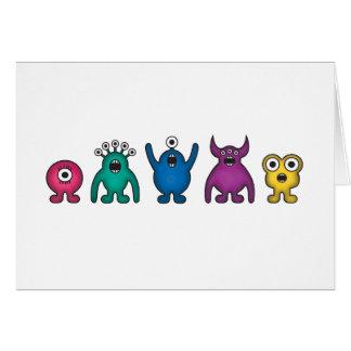Monstruos del extranjero del arco iris tarjeta de felicitación