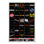 Monstruos del poster de Grok