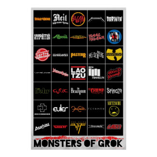 Monstruos del poster de Grok Póster