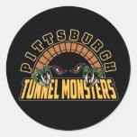 Monstruos del túnel de Pittsburgh Etiquetas Redondas