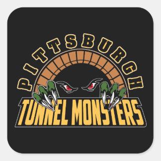 Monstruos del túnel de Pittsburgh Pegatina Cuadrada