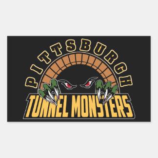 Monstruos del túnel de Pittsburgh Pegatina Rectangular