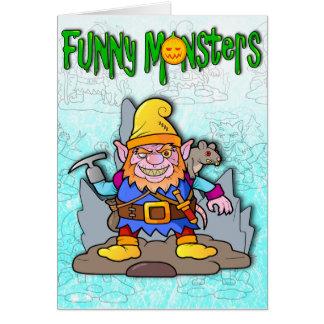 monstruos divertidos tarjeta de felicitación
