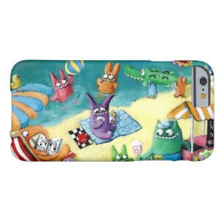 Monstruos en la playa funda de iPhone 6 barely there