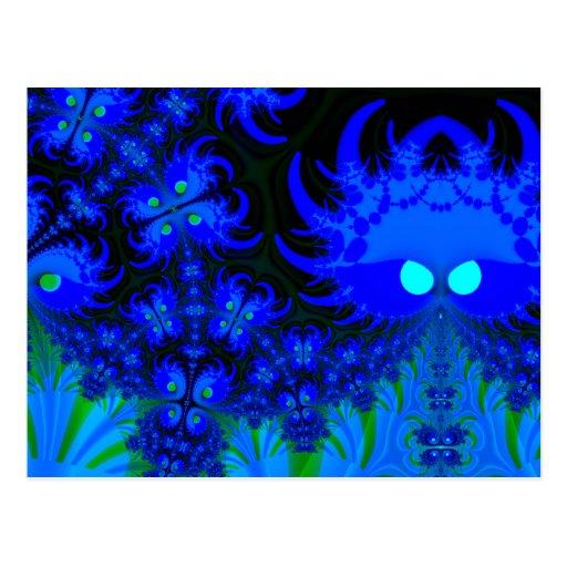 Monstruos en la postal oscura del fractal