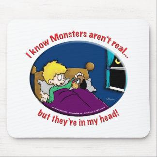 Monstruos en mi cabeza tapetes de raton