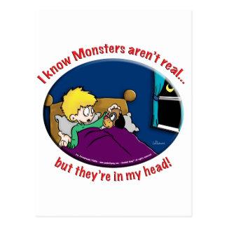 Monstruos en mi cabeza postal