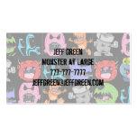 Monstruos, extranjeros y diablos lindos tarjetas de visita