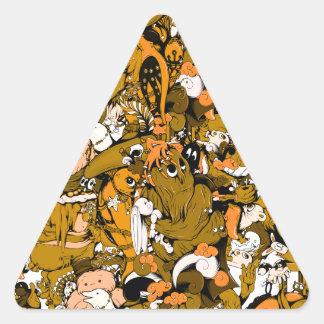 Monstruos frescos calcomanías de trianguloes personalizadas