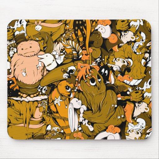 Monstruos frescos tapete de ratones