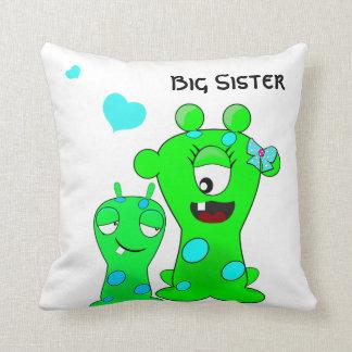 Monstruos, hermana grande, dibujo animado de cojín
