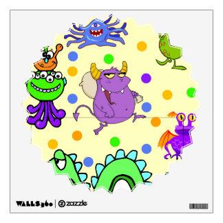 Monstruos lindos del dibujo animado
