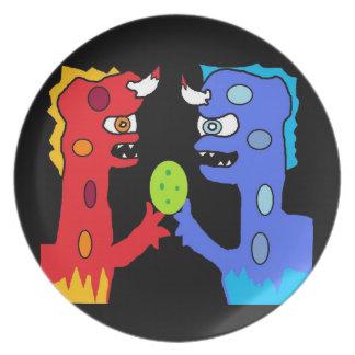 monstruos plato para fiesta