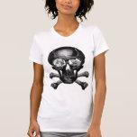 """Monstruos retros """"cráneo"""" del kitsch del vintage camisetas"""