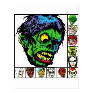 Monstruos retros del monstruo postal