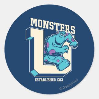 Monstruos U - Establecido 1313 Pegatina Redonda