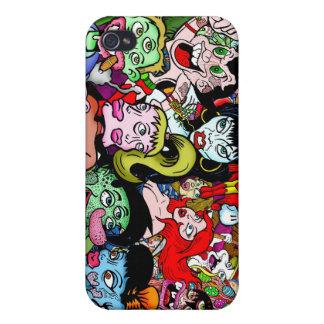 Monstruos y frikis iPhone 4/4S funda