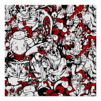 Monstruos y personajes de dibujos animados de los  impresiones