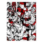 Monstruos y personajes de dibujos animados de los  tarjeta postal