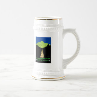 Mont Blanc Alps Vintage Travel Poster Beer Stein