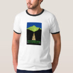 Mont Blanc Alps Vintage Travel Poster T-Shirt