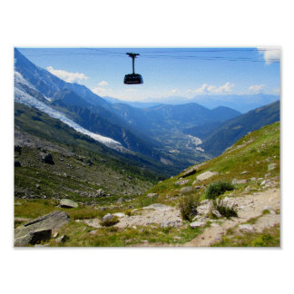 Mont Blanc Cable Car Poster