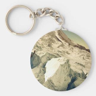 Mont Blanc Chamonix Valley France Keychain